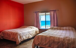Bedrooms in the Magdalena Island accommodation.